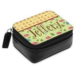 Summer Camping Small Leatherette Travel Pill Case (Personalized)