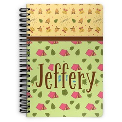Summer Camping Spiral Bound Notebook (Personalized)