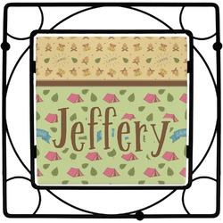 Summer Camping Square Trivet (Personalized)