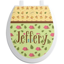Summer Camping Toilet Seat Decal (Personalized)