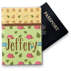 Summer Camping Vinyl Passport Holder (Personalized)