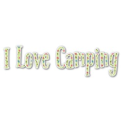 Summer Camping Name/Text Decal - Custom Sized (Personalized)