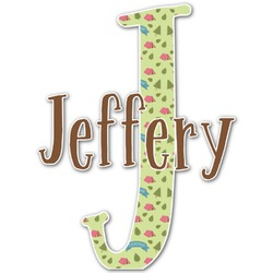 Summer Camping Name & Initial Decal - Custom Sized (Personalized)
