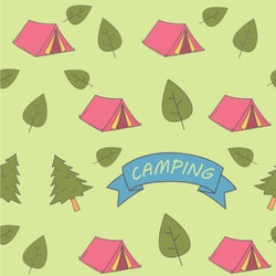 Summer Camping Wallpaper & Surface Covering