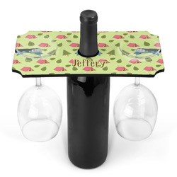 Summer Camping Wine Bottle & Glass Holder (Personalized)
