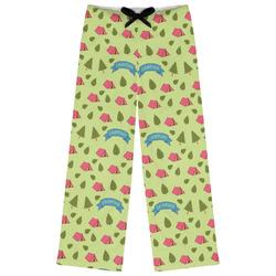 Summer Camping Womens Pajama Pants (Personalized)