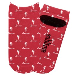 Red Diamond Dancers Adult Ankle Socks (Personalized)