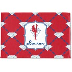 Red Diamond Dancers Woven Mat (Personalized)