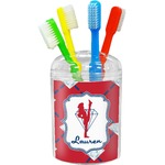 Red Diamond Dancers Toothbrush Holder (Personalized)