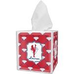 Red Diamond Dancers Tissue Box Cover (Personalized)