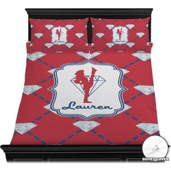 Red Diamond Dancers Duvet Cover Set (Personalized)