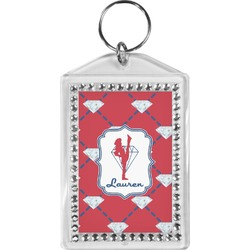 Red Diamond Dancers Bling Keychain (Personalized)