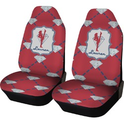 Red Diamond Dancers Car Seat Covers (Set of Two) (Personalized)