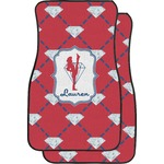 Red Diamond Dancers Car Floor Mats (Front Seat) (Personalized)