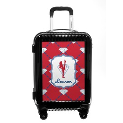 Red Diamond Dancers Carry On Hard Shell Suitcase (Personalized)
