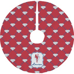 Red Diamond Dancers Tree Skirt (Personalized)