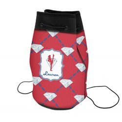 Red Diamond Dancers Neoprene Drawstring Backpack (Personalized)