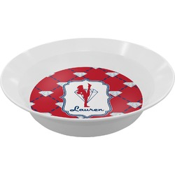 Red Diamond Dancers Melamine Bowl (Personalized)