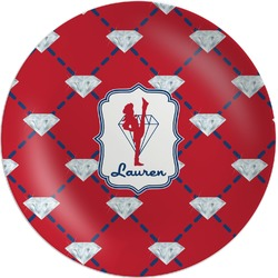 Red Diamond Dancers Melamine Plate (Personalized)