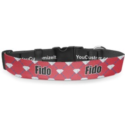 Red Diamond Dancers Deluxe Dog Collar (Personalized)