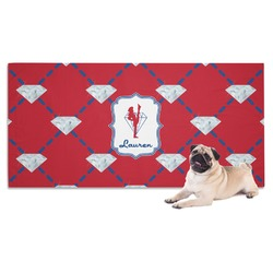 Red Diamond Dancers Pet Towel (Personalized)