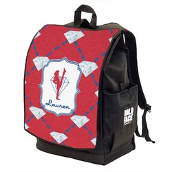 Red Diamond Dancers Backpack w/ Front Flap  (Personalized)