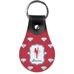 Red Diamond Dancers Genuine Leather  Keychain (Personalized)