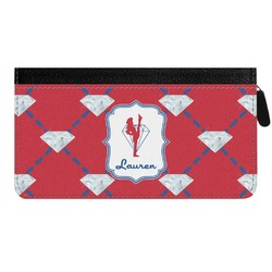 Red Diamond Dancers Genuine Leather Ladies Zippered Wallet (Personalized)