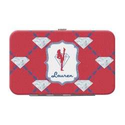 Red Diamond Dancers Genuine Leather Small Framed Wallet (Personalized)