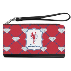 Red Diamond Dancers Genuine Leather Smartphone Wrist Wallet (Personalized)