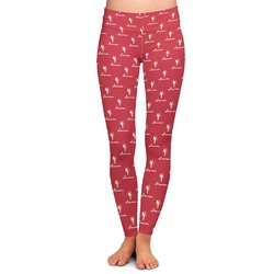 Red Diamond Dancers Ladies Leggings (Personalized)