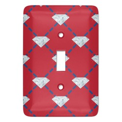 Red Diamond Dancers Light Switch Cover (Single Toggle) (Personalized)
