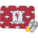 Red Diamond Dancers Memory Foam Bath Mat (Personalized)