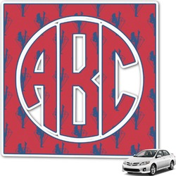 Red Diamond Dancers Monogram Car Decal (Personalized)