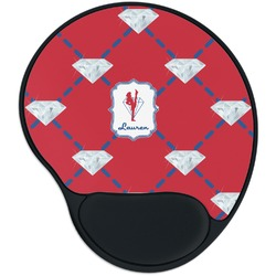 Red Diamond Dancers Mouse Pad with Wrist Support