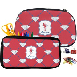 Red Diamond Dancers Pencil / School Supplies Bag (Personalized)