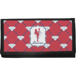 Red Diamond Dancers Canvas Checkbook Cover (Personalized)