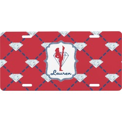 Red Diamond Dancers Front License Plate (Personalized)