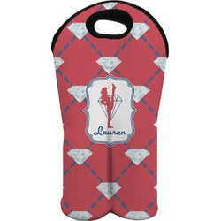 Red Diamond Dancers Wine Tote Bag (2 Bottles) (Personalized)
