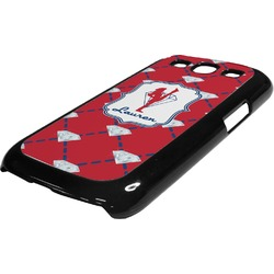 Red Diamond Dancers Plastic Samsung Galaxy 3 Phone Case (Personalized)