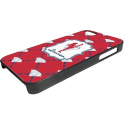 Red Diamond Dancers Plastic iPhone 5/5S Phone Case (Personalized)