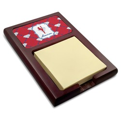 Red Diamond Dancers Red Mahogany Sticky Note Holder (Personalized)