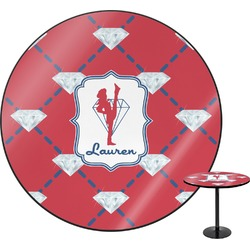 Red Diamond Dancers Round Table (Personalized)