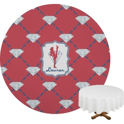 Red Diamond Dancers Round Tablecloth (Personalized)