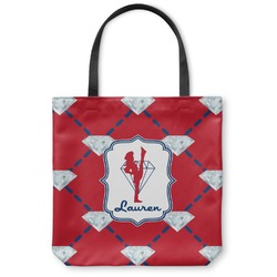 Red Diamond Dancers Canvas Tote Bag (Personalized)