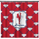 Red Diamond Dancers Shower Curtain (Personalized)