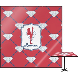 Red Diamond Dancers Square Table Top (Personalized)