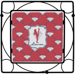 Red Diamond Dancers Square Trivet (Personalized)
