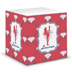 Red Diamond Dancers Sticky Note Cube (Personalized)