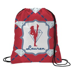 Red Diamond Dancers Drawstring Backpack (Personalized)